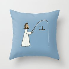 Jesus Fish Throw Pillow