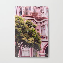 San Francisco Pink II Metal Print