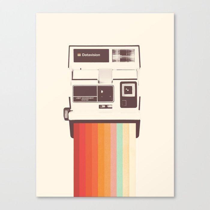 Instant Camera Rainbow Leinwanddruck