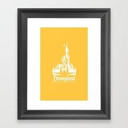 Disneyland - Yellow Framed Art Print