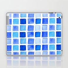 blue watercolor Laptop & iPad Skin
