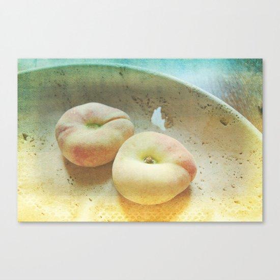 Flat Peaches Canvas Print