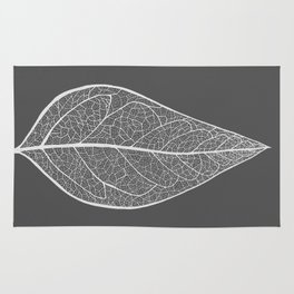 Leaf in Grey Rug