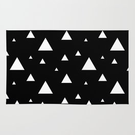 Black with White Triangles Rug