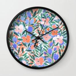 Nonchalant Coral Wall Clock