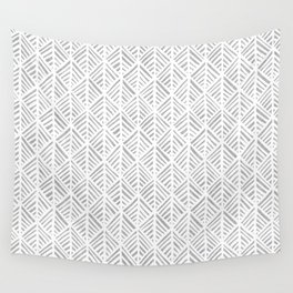 Abstract Leaf Pattern in Gray Wall Tapestry