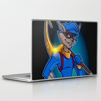 dale cooper Laptop & iPad Skins featuring Sly Cooper by NicoleGrahamART