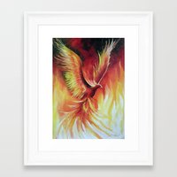 phoenix Framed Art Prints featuring phoenix by OLHADARCHUK