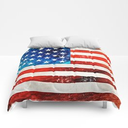 American Flag Art - Old Glory - By Sharon Cummings Comforters