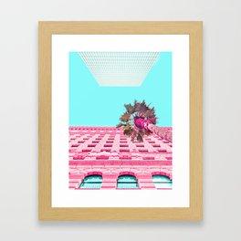 LA Palm Tree Look Up Framed Art Print