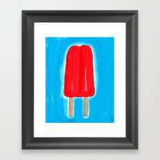 Ice Pops and Pool Time Framed Art Print
