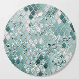 Mermaid Glitter Scales #3 #shiny #decor #art #society6 Cutting Board