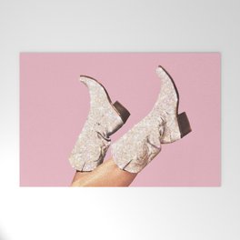These Boots - Glitter Pink Welcome Mat