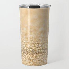 Beautiful champagne gold glitter sparkles Travel Mug