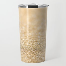 Beautiful champagne gold glitter sparkles Travel Mug