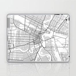 Winnipeg Map, Canada - Black and White Laptop & iPad Skin