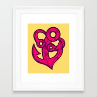 anchor Framed Art Prints featuring Anchor by Artistic Dyslexia