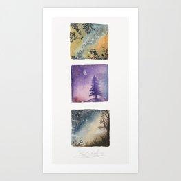 miniatures of the night sky Art Print