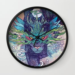 Spectral Cat Wall Clock