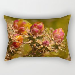 Cacti in Bloom - II Rectangular Pillow