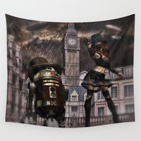 sci fi Wall Tapestries featuring Steampunk Sci-Fi 3 by gypsykissphotography