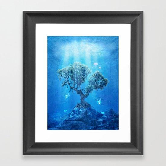underwater tree Framed Art Print
