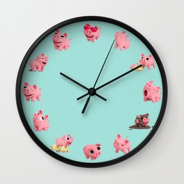 Rosa Clock Blue Wall Clock