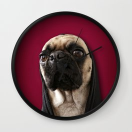 Lola on Red Wall Clock