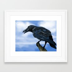 Mr. Crow Framed Art Print