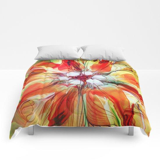 Flower in Fractal Comforters