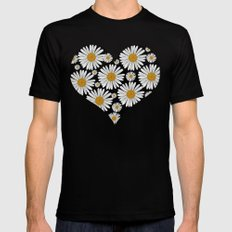 Daisy Love Black MEDIUM Mens Fitted Tee