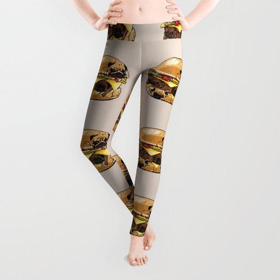 Pugs Burger Leggings