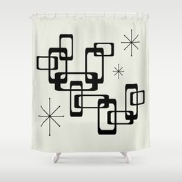 Atomic Era Minimalism Shower Curtain