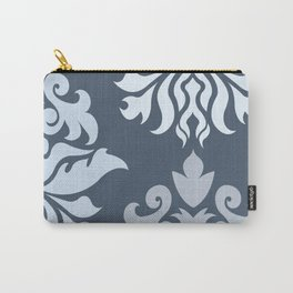 Ornate Damask Art I – Blues (B) Carry-All Pouch