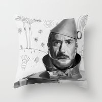 robert downey jr Throw Pillows featuring Robert Downey Jr by Pazu Cheng