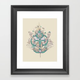 A happy caterpillar, amongst other things Framed Art Print
