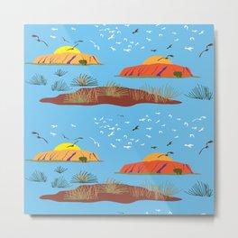 Amazing Uluru Metal Print