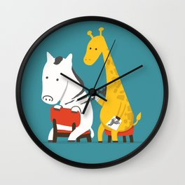Zebra Tattoo Wall Clock