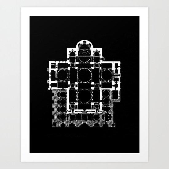 San Marco Plan Art Print