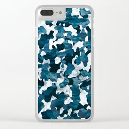 Surfing Camouflage #3 Clear iPhone Case