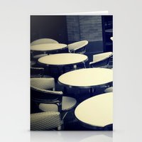 outdoor Stationery Cards featuring Outdoor Cafe Chairs by ELIZABETH THOMAS Photography of Cape Cod