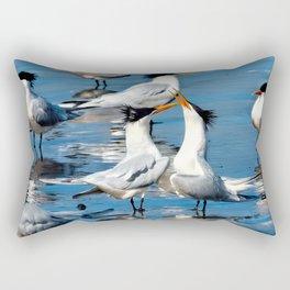 Elegant Mating Dance Rectangular Pillow