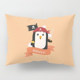 Pirate Pinguin from BUDAPEST T-Shirt for all Ages Pillow Sham