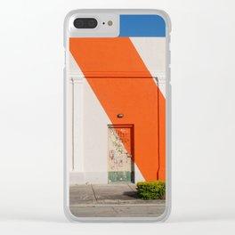 The Orange Stripe Clear iPhone Case