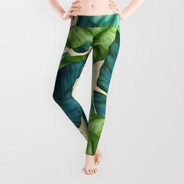 Tropical Banana Leaves Original Pattern Leggings