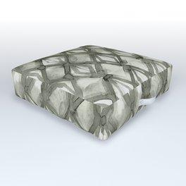 Braided Diamond Simply Green Tea on Lunar Gray Outdoor Floor Cushion