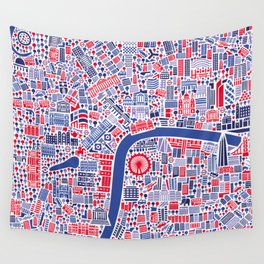London City Map Poster Wall Tapestry
