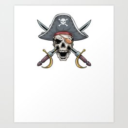 Pirate Grandpa Funny Bow Arrow Sport Hunter Art Print