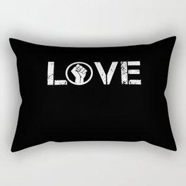 Black Lives Matter BLM Love Fist Shirt Rectangular Pillow
