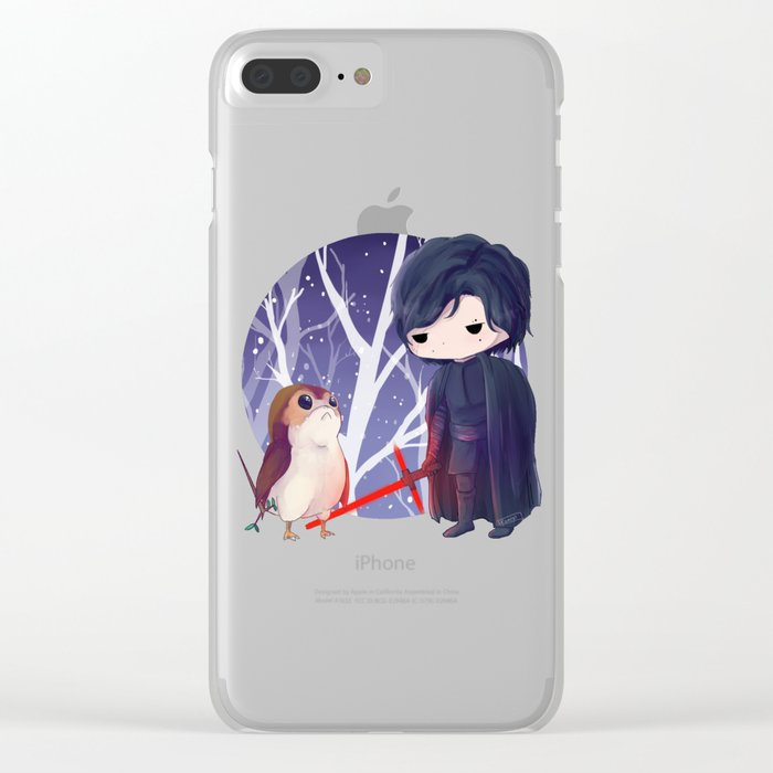 porgs in training: kylo Clear iPhone Case